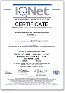 Certificate ISO 9001 IQNet